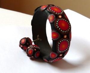 braceletbodonnaorangenoir