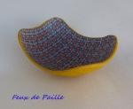 Vide poche kaléido bleu et ocre jaune.JPG